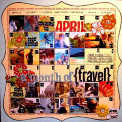 April: A Month of Travel