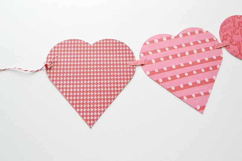 *We R* Alphabet Punch Board Heart Garland