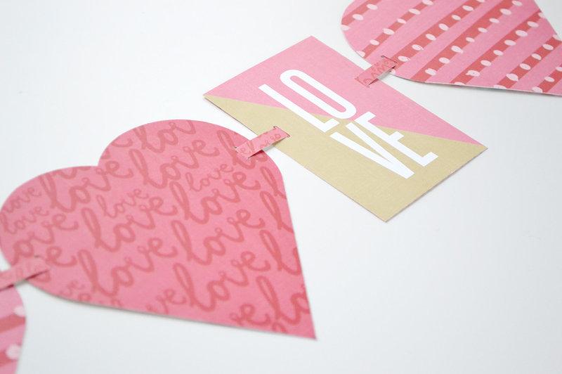 *We R* Alphabet Punch Board Heart Garland