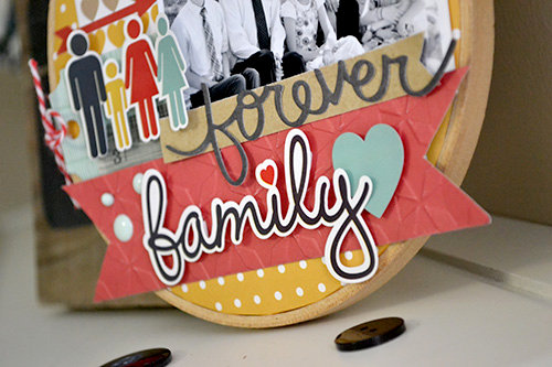 *Echo Park* Forever Family Altered Embroidery Hoop