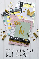 DIY Gold Foil Cards: Heidi Swapp Minc