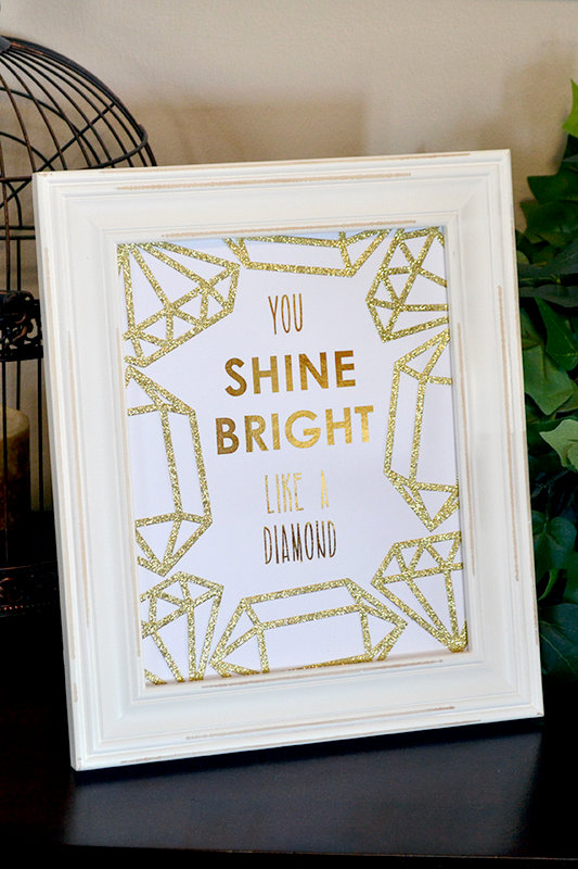 *We R* Mother's Day Gold Foil Framed Art