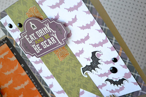 *Echo Park* Halloween Stenciled Card Set