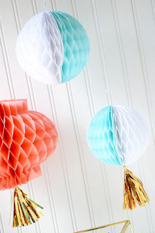 DIY Honeycomb Party Decor