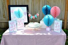 Honeycomb Paper Hot Air Balloon Party Idea