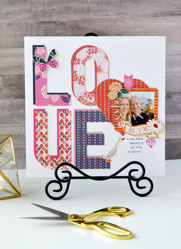 LOVE: Alphabet Punch Board Layout