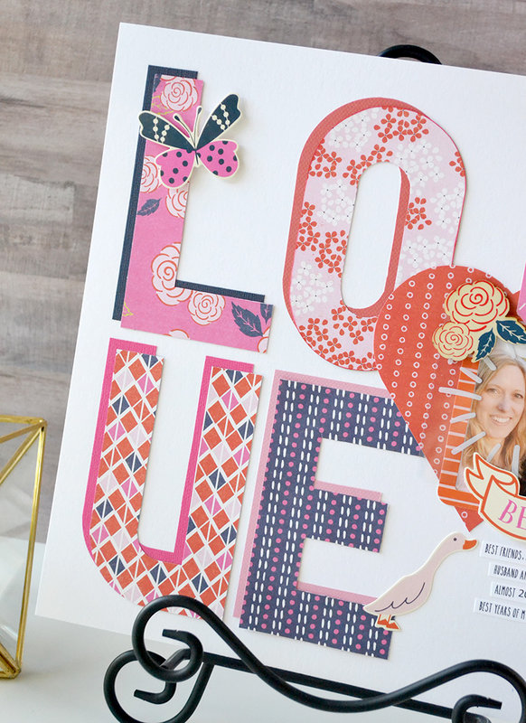 LOVE: Alphabet Punch Board Layout