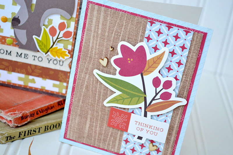 Stenciled Fall Card Set