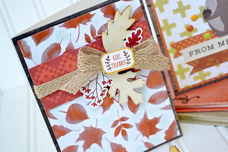 Stenciled Fall Card Set