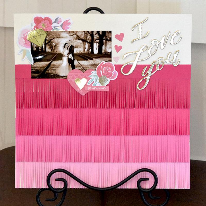 Paper Fringe Wedding Set