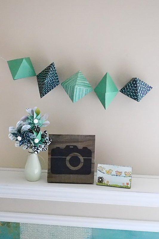 *We R* Paper Gem Garland and Pinwheel Bouquet