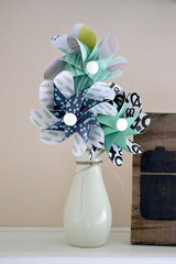 *We R* Paper Gem Garland and Pinwheel Bouquet