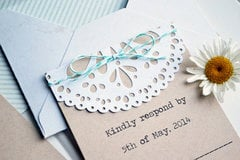 *We R* DIY Doily Wedding Invitation
