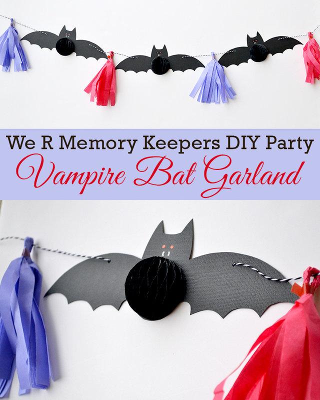 DIY Party Vampire Bat Garland