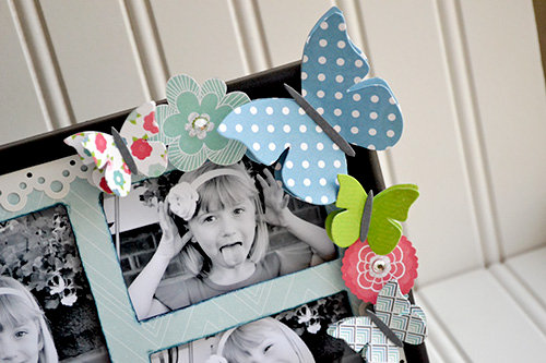 *Echo Park* Butterfly Altered Frame