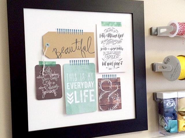 Framed Journaling Card Decor