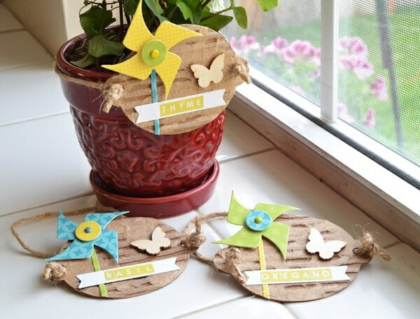 *We R* potted herb labels