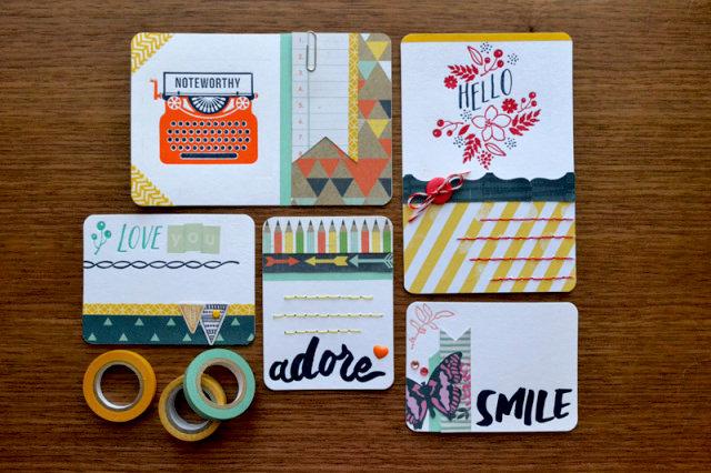*We R* Lettepress Journaling Cards