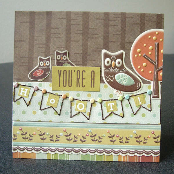 You're A Hoot card *New We R Memory Keepers*