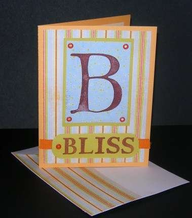 B is for Bliss Alphabet Card
