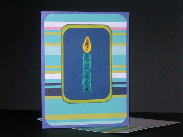 Quilled Birthday Candle Card