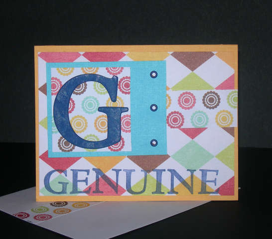G is for Genuine Alphabet Series Card