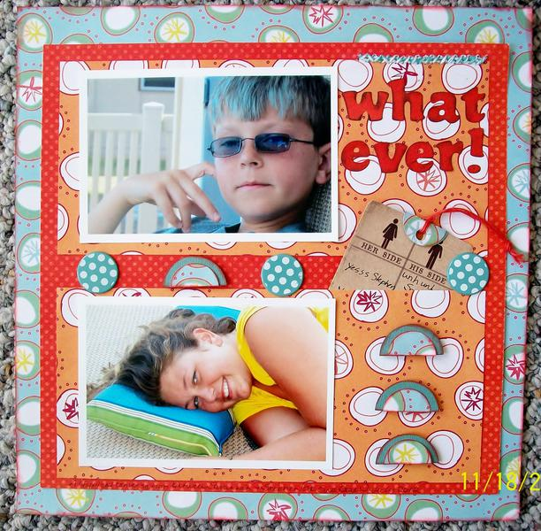 What Ever! (November Ugly Paper challenge)