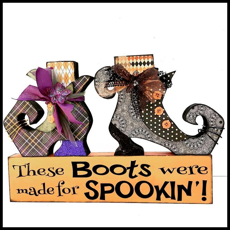 Boots Halloween Decor