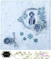 Joyous Snowdays Layout for Tres Jolie Kit Club