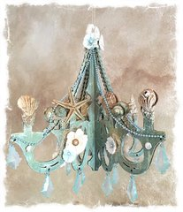 Beachy Altered Chandelier