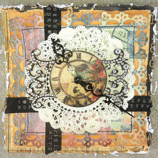 Clock Card *Swirlydoos Kit Club""