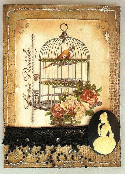 Birdcage Card *** Swirlydoos***