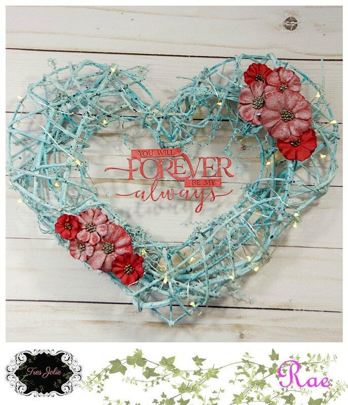 Altered Heart Wreath