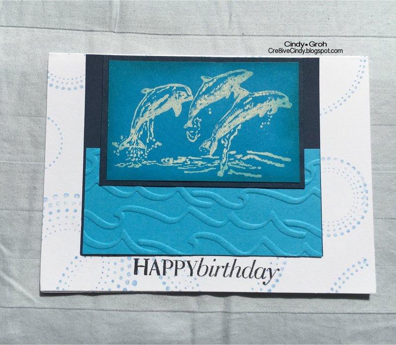 Dolphin birthday card