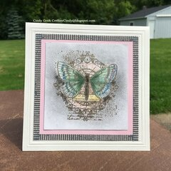Chalk Butterfly card