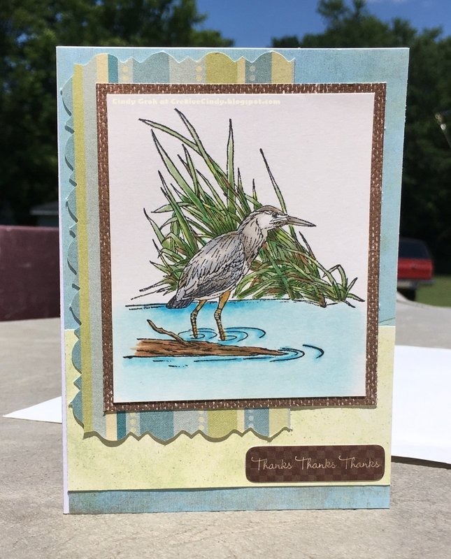 Sandpiper Thank you card