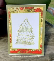 Deep Red Stamp Christmas card