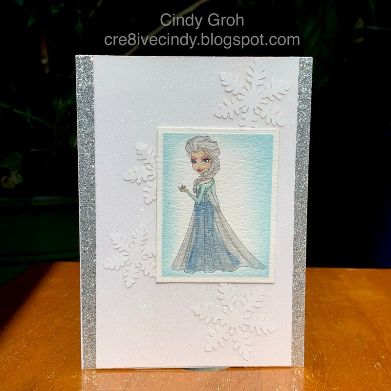 Elsa Sparkles card