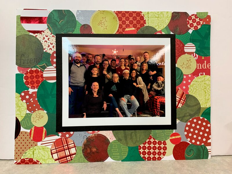 Circular Christmas gathering