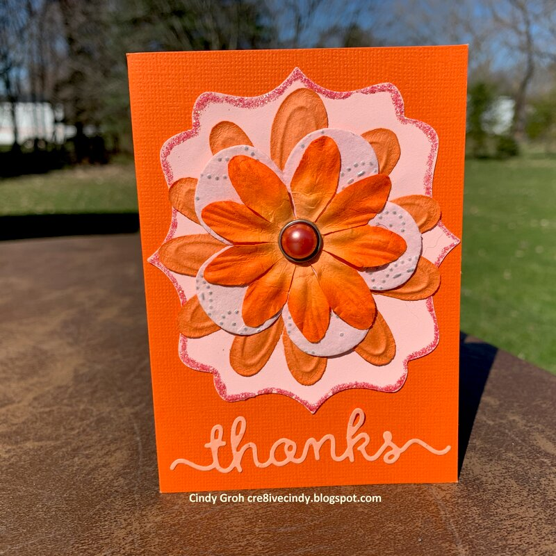 Orange flower Thanks