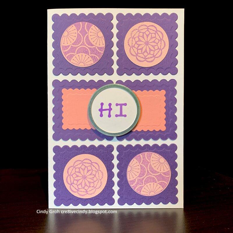 Pink and Purple Hi card
