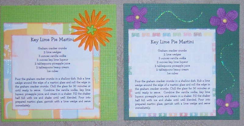 Recipe Card - Key Lime Pie Martini