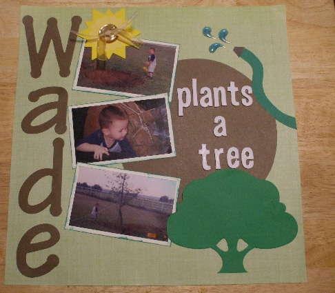 Wade plants a tree