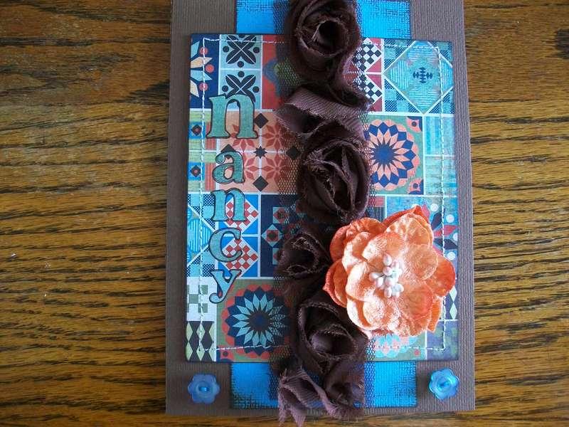 Quilt Card w/Stitching