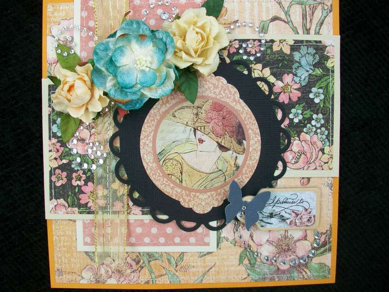 """""""ladies diary"""" card for swap"""