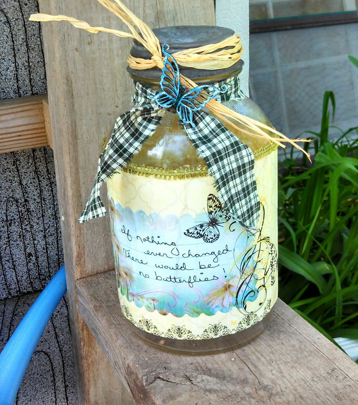 Altered Mason Jar Swap