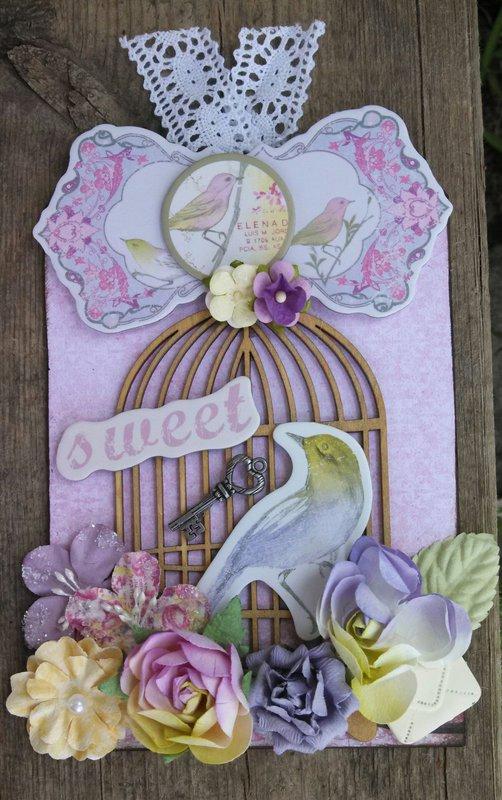 Meadowlark Bird Tag for Martica's Swap