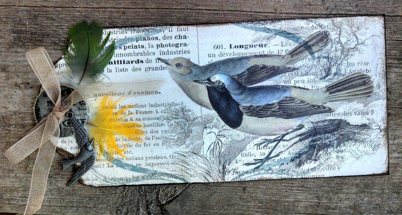 Bird Tag  Martica's Swap