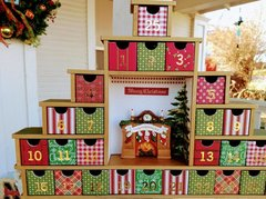 Patchwork Vintage Style Advent Calendar