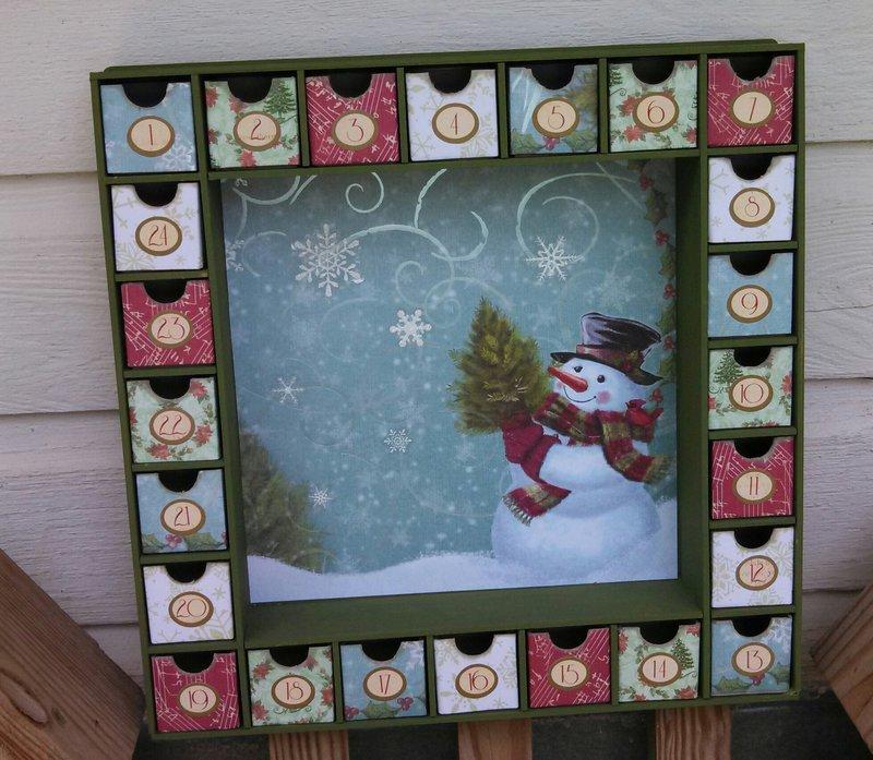 Cute Snowman Advent Calendar